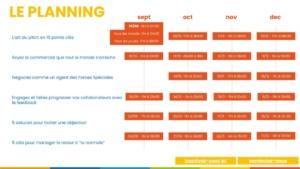 planning live training septembre à decembre 2020